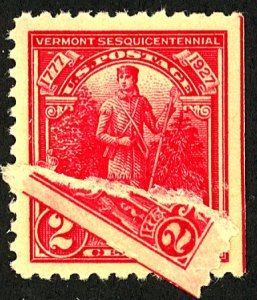 U.S. #643 MINT OG THIN PART OF STAMP PASTED ON