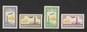 Iran Scott #C79-C82 mint never hinged 1953 airmail set og f/vf