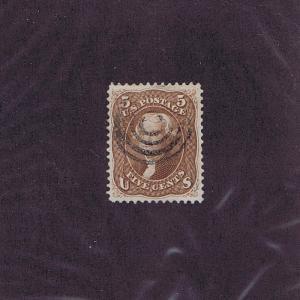 SC# 76 USED 5c JEFFERSON 1863, JUMBO, TARGET CCL, PSAG CERT GRADED XF 90 LOOK!