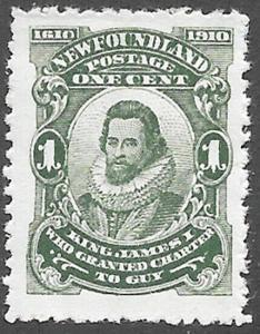 Newfoundland Scott Number 87a FVF H