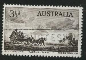 AUSTRALIA Scott 281 Used 1955 Mail coach stamp
