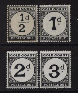 GOLD COAST 1923-52 Postage Due basic set ½d-3d.