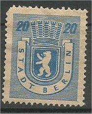 BERLIN, 1945, MH 6pf Berlin Bear Scott 11N6