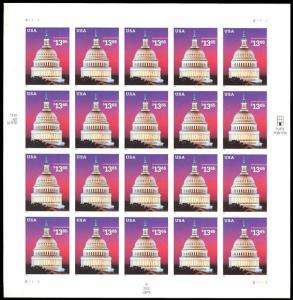 3648, $13.65 2002 Express Mail Full Sheet of 20 Stamps CV $765.00 - Stuart Katz