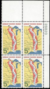 #1319 5c Mississippi River-The Great River Road PB/4 1966 Mint NH