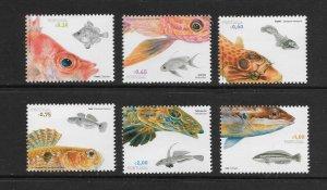 FISH - PORTUGAL #2858-63   MNH