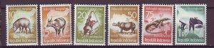 J25007 JLstamps 1959 indonesia set mh #473-8 wildlife
