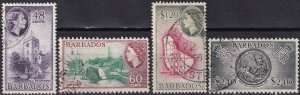 Barbados #244-7  F-VF  Used CV $15.50 (Z2463)