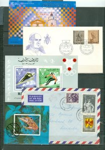 WORLDWIDE  (16) LOTS FROM MERCHANT STOCK...SOME MNH
