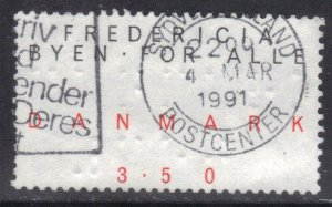 DENMARK SC# 927 **USED** 3.50k  1990    SEE SCAN