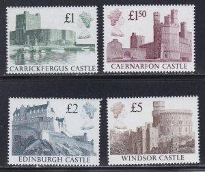Great Britain # 1230-1233, Photographs of British Castles, NH, 1/2 Cat.