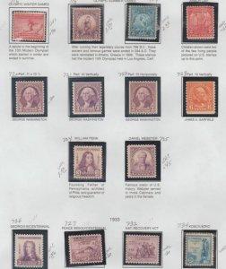 U.S. Scott #716-734 Stamps - Mint Set