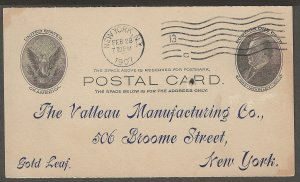 UX18 PC 11, McKinley, Preprinted, earliest documented use July 14, 1902