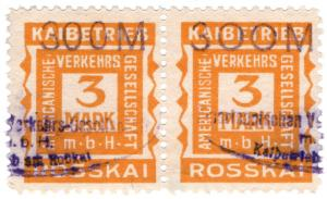 (I.B-CK) Germany Cinderella : Hamburg Amerika - Rosskai Port Charges 300m OP