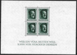 Doyle's_Stamps: MNH pre-WWII German Hitler Souvenir Sheet Scott #B102**  (L23)