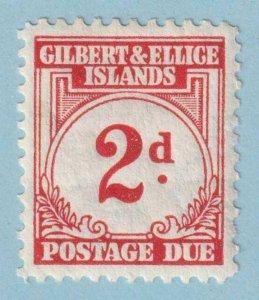 GILBERT & ELLICE ISLANDS J2 POSTAGE DUE  MINT HINGED OG * NO FAULTS EXTRA FINE!