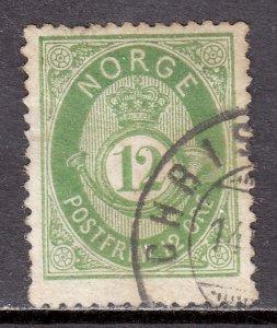 Norway - Scott #26 - Used - Toning - SCV $25.00