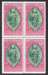 1953 Vatican,Vatikan City,Quartina Pierlombardo 1 Val N°173 Centered MNH