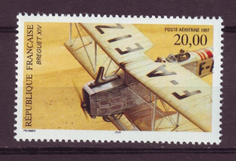 J13269 JLstamps 1997 france from a set mnh #c60 airplanes perf 13 x 13 1/4