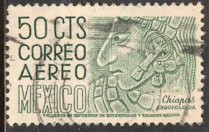 MEXICO C220E 50¢ 1950 Definitive 2nd Ptg wmk 300 PERF 11 1/2X11 USED VF. (1198)