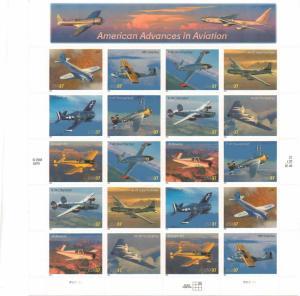 US 3916-25 - 37¢ Advances In Aviation Unused