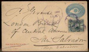 Guatemala 1900 San Salvador Cover 92806
