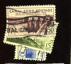CANAL ZONE #87 127 131 135 USED FVF Cat $29