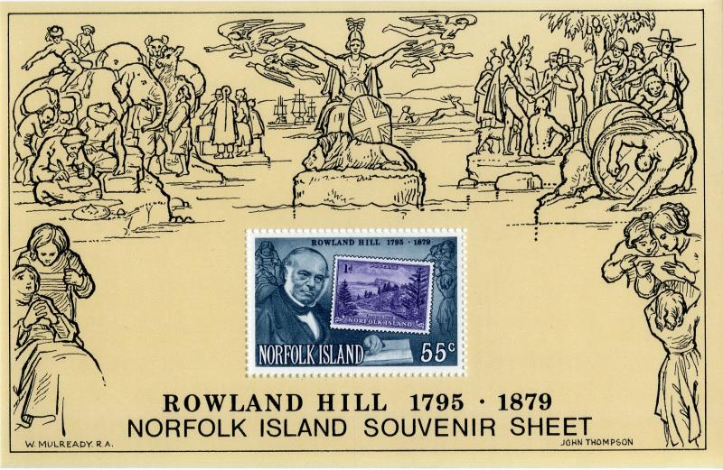 Norfolk Island 248a MNH S/S BIN $1.25 STAMP ON STAMP