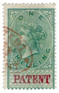 (I.B) QV Revenue : Patent Office 1/- (1872)