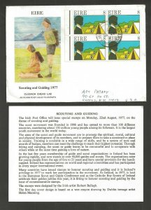 1977 Boy Scout Girl Guide Ireland FDC block to US