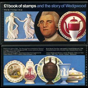 G.B.-BOOKLET 1972 - Scott# BK144 Booklet-Wedgwood NH