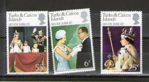 Turks and Caicos 321-323 MNH
