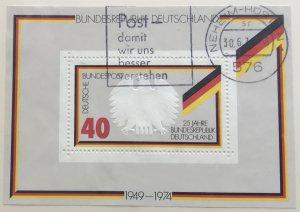 Germany 1145 Used Souvenir Sheet SCV $1.60