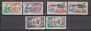 J28144 3 dif 1968-70 dahomey sets mnh #250-1, 257-8, 267-8 designs