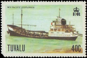 Tuvalu #77-80, Complete Set(4), 1978, Ships, Never Hinged