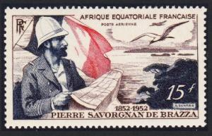Fr. Eq. Africa Birds Birth Centenary of Count de Brazza 1v SG#270 SC#C35
