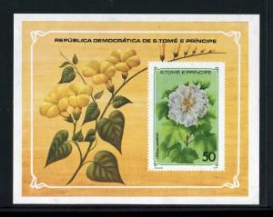 St Thomas & Prince Islands  502, 503a-d, 506, 508  MNH,  Flowers 1979. x27198