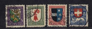 SWITZERLAND #B37-B40 CV $17.00 item #A42