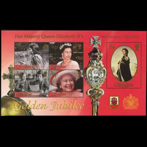GIBRALTAR 2002 - Scott# 900a S/S Queen Birthday NH