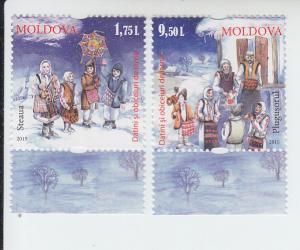 2015 Moldova Christmas (2) (Scott 894-95) MNH
