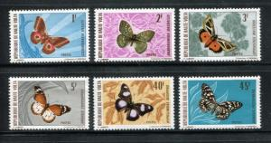 Upper Volta-Burkina Faso 244-249, MNH, Insects Butterflies 1971 x23910