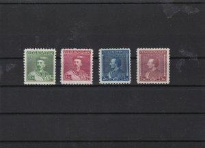 czechoslovakia dr tyrs mounted mint stamps set ref 6963