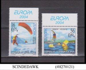 SERBIA MONTENEGRO - 2004 EUROPA - HOLIDAYS 2V MNH