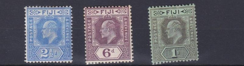FIJI  1906 - 12      SG 120 - 122     VALUES TO 1/-     MH  CAT £48
