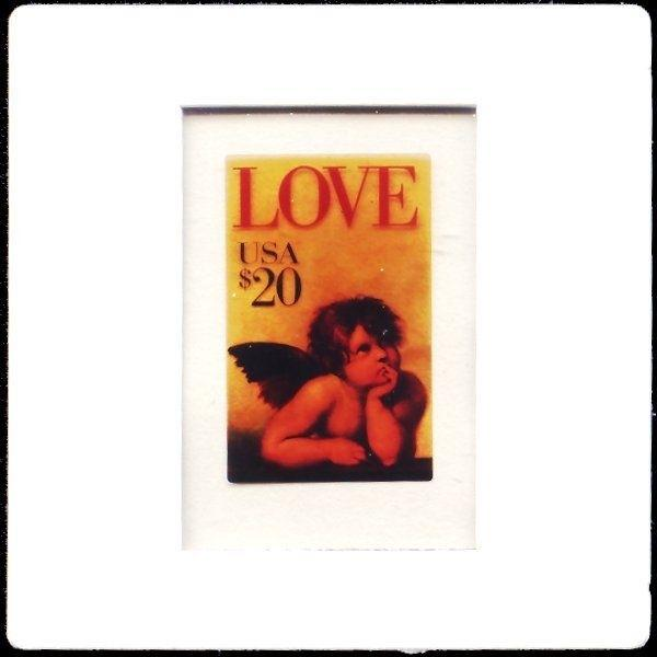 US $20 Love Cherub Stamp Phone Card Photo of Essay