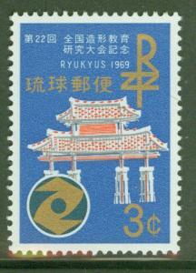 RYUKYU Scott 184 MNH** Gate of Courtesy stamp 1969