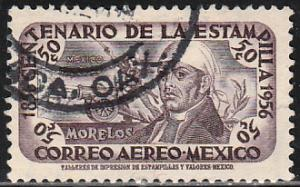 MEXICO C231, 50c Centenary of 1st postage stamps Used (1091)