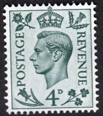 GB KGVI 1937 4d Grey-Green SG468 Mint Never Hinged MNH UMM