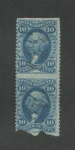 1862 United States Internal Revenue Power of Attorney Stamp #R37b Used Fine Pair
