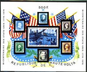 Upper Volta 358 USA bicentennial souvenir sheet MNH mint      (Inv 001286.)